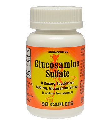 Glucosamine Sulfate Caplets (90 Count) Back Ordered